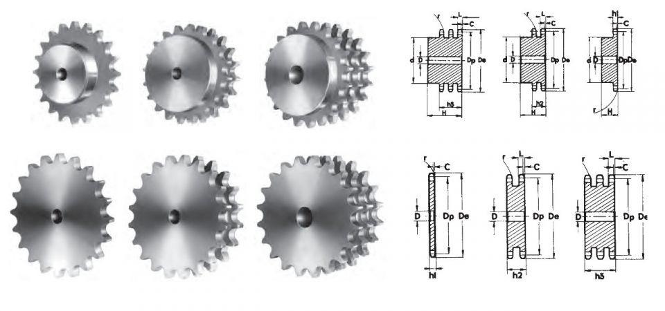 Fabricación a medida de piñones y discos